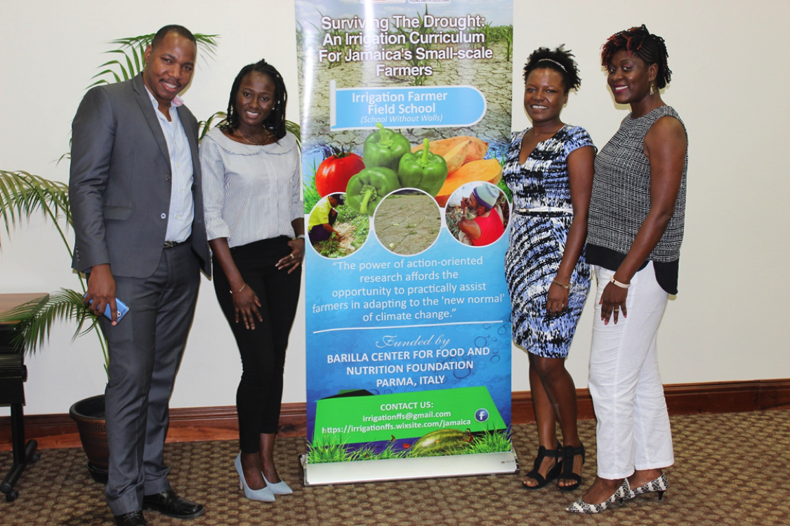 Public Seminar - From left: Dr. Robert Kinlocke, The University of the West Indies; Shaneica Lester, Anne-Teresa Birthwright; Dr. Rose – Ann Smith, The University of the West Indies