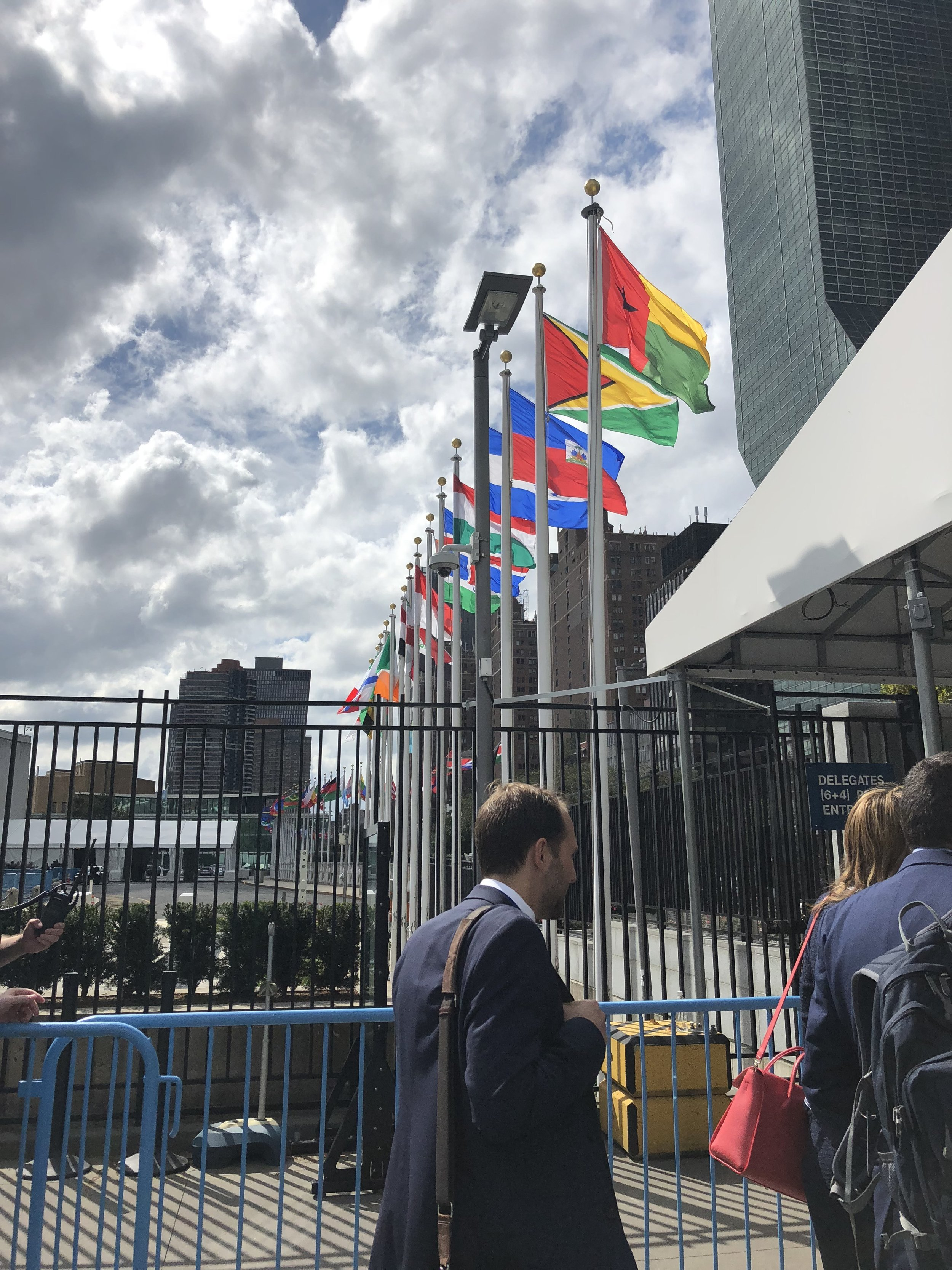 Entering UN Headquarters can be an overwhelming experience. Muriam Fancy snapped this photograph as she was entering HQ for the first time!