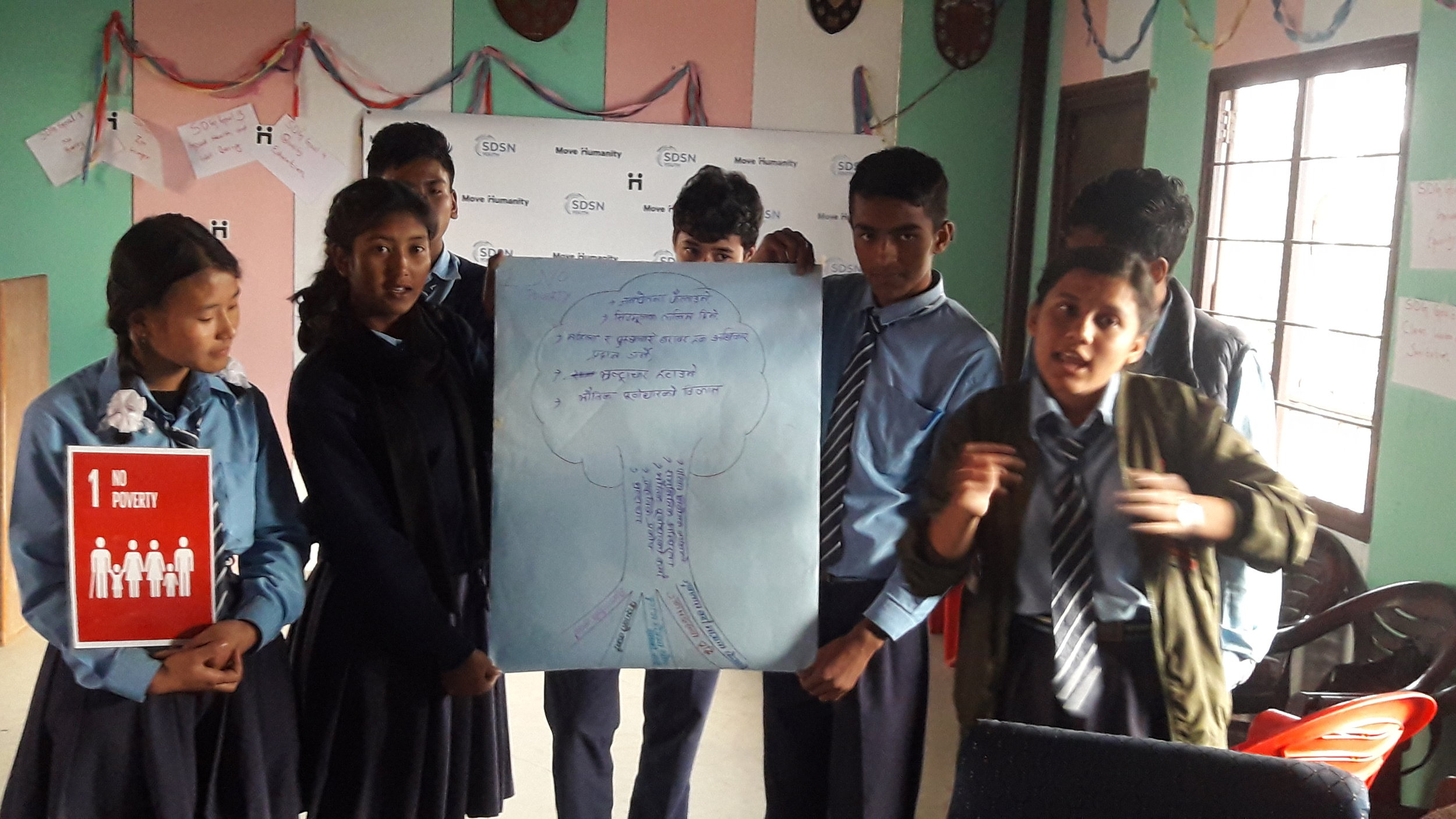 Group Presentation by the Youth Students of Gorakhnath School on SDG 1