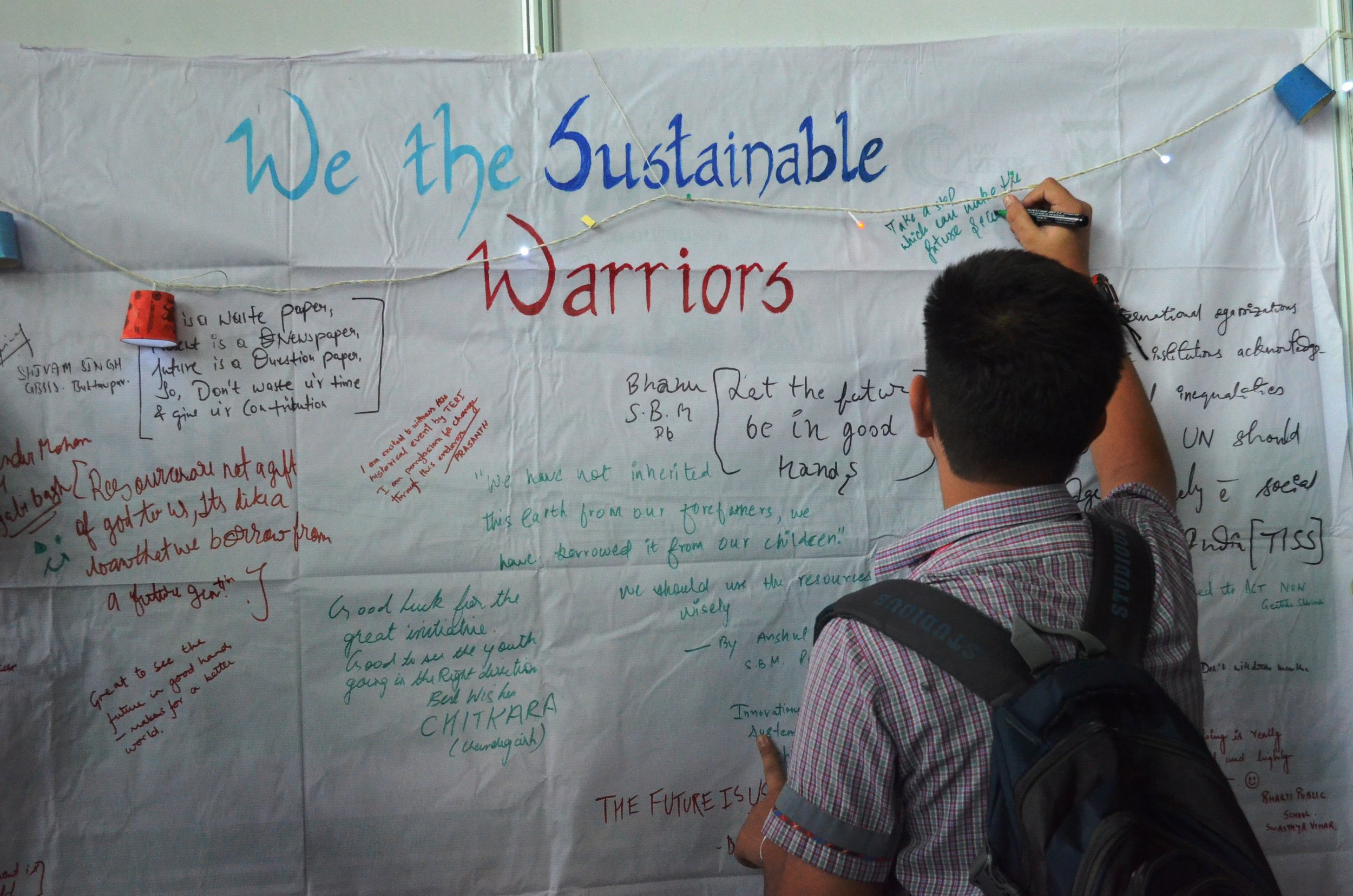 Let's Pledge- We the Sustainable Warriors