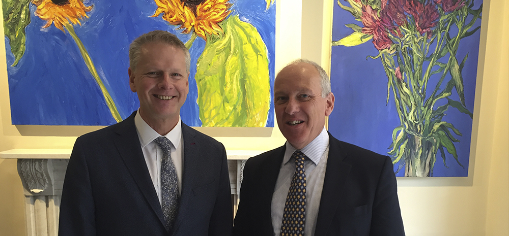 Professor Colin Riordan, President and Vice Chancellor at Cardiff University and Stephen Burgin, VP of GE Europe and member of our Advisory Board