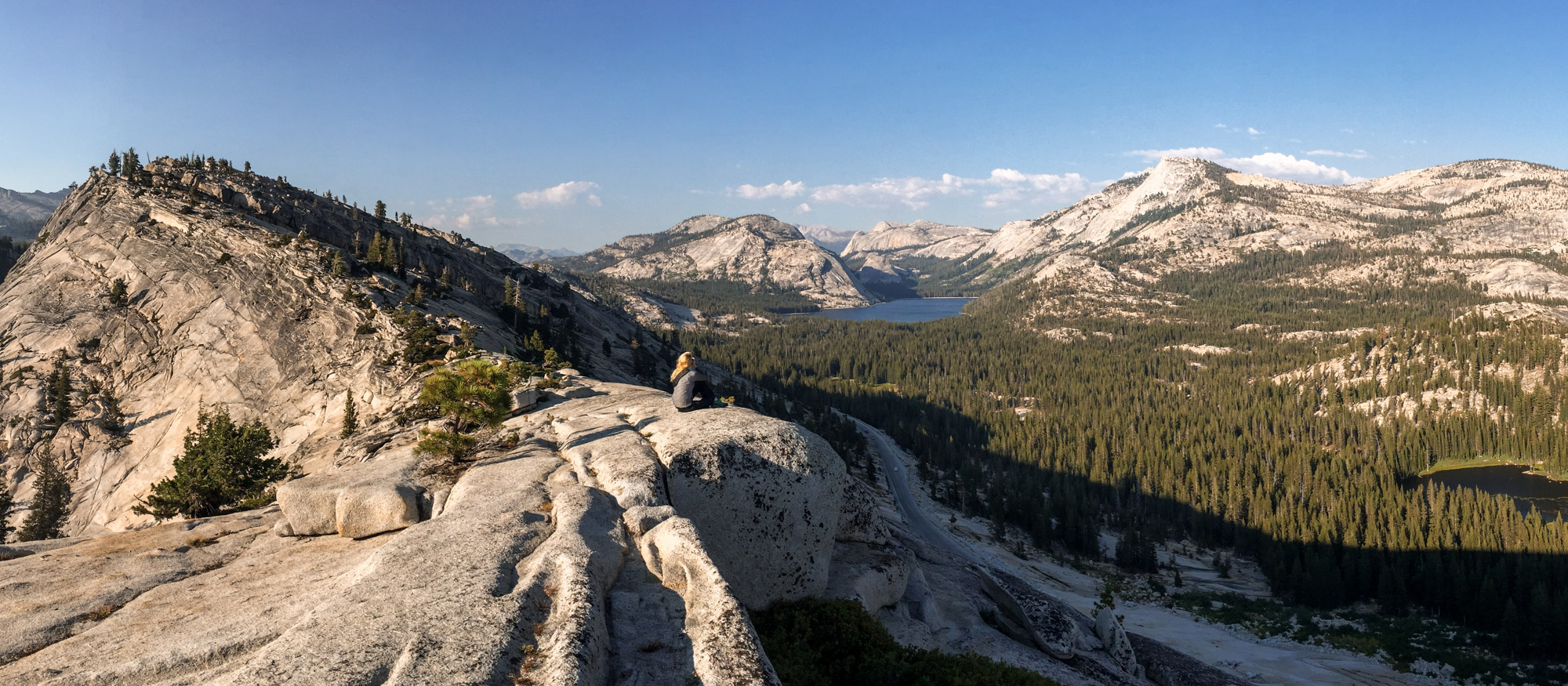 Looking out over Tuolumne Meadows