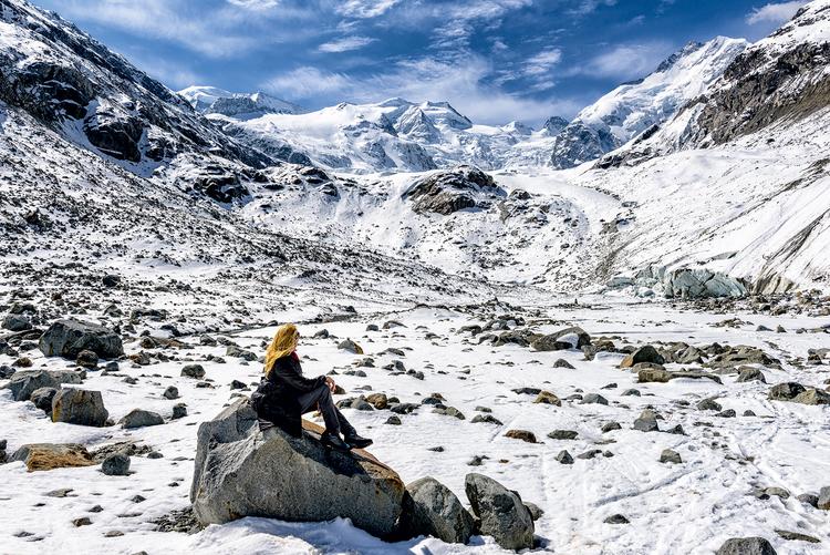 Next to the Morteratsch Glacier
