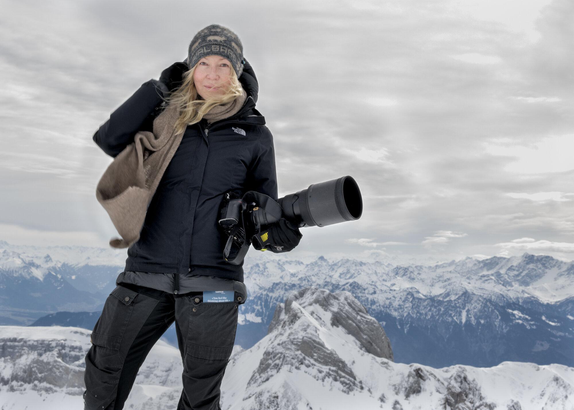 Dawna Mueller on Ice Caps