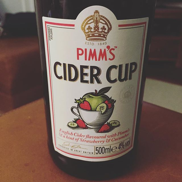 Tonight's choice of drink @pimmsgb ! #pimms #pimmsoclock #pimmscider #pimmstime #fridayvibes #packagingdesign #illustration #branding #graphicdesign #branding #tgif #pimmscidercup #fruity #labeldesign #cidergram #cider #refreshed