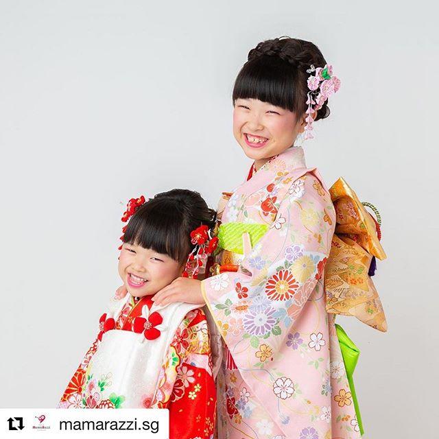 Hair styling & Make up for Japanese traditional photos 753(Shichigosan)💕 Hair&makeup by @kaori_hair_make  Photo by @mamarazzi.sg  #repost #singapore #sg #hair #hairstyling #makeup #kimono #753 #memory #photo