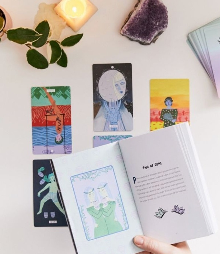 Get the boxset of my book + its deck of tarot cards! -
