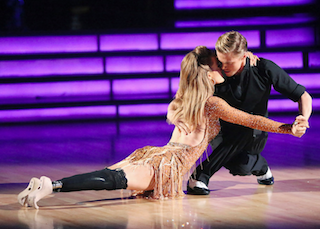 Paralympian Amy Purdy competing on ABC's  Dancing with the Stars  in 2014