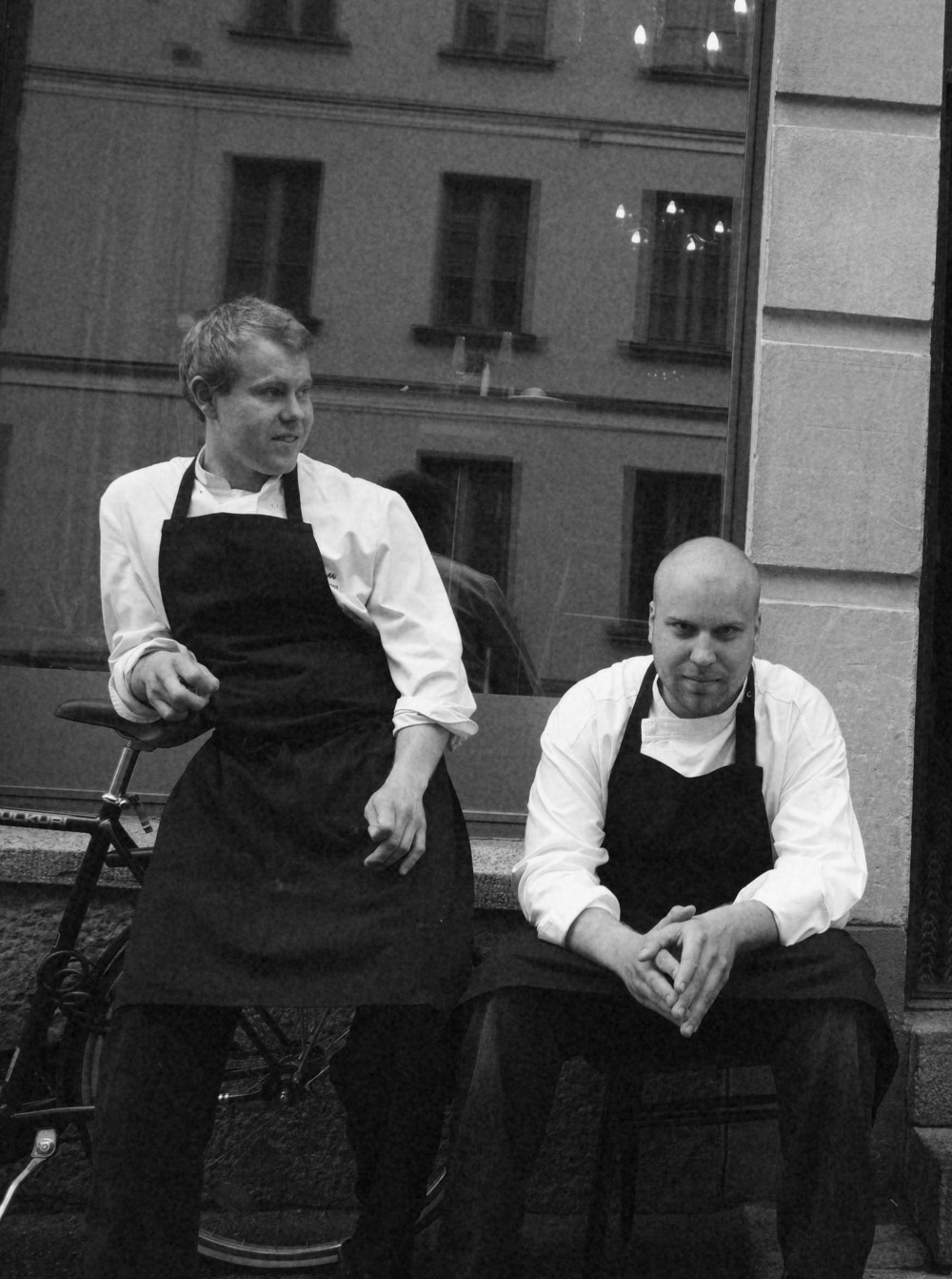 Young restaurateurs in 2005.