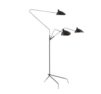 BLACK ORCHID THREE ARM FLOOR LAMP £300.00