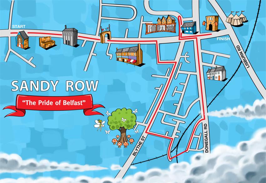Sandy Row Walking Tour Map