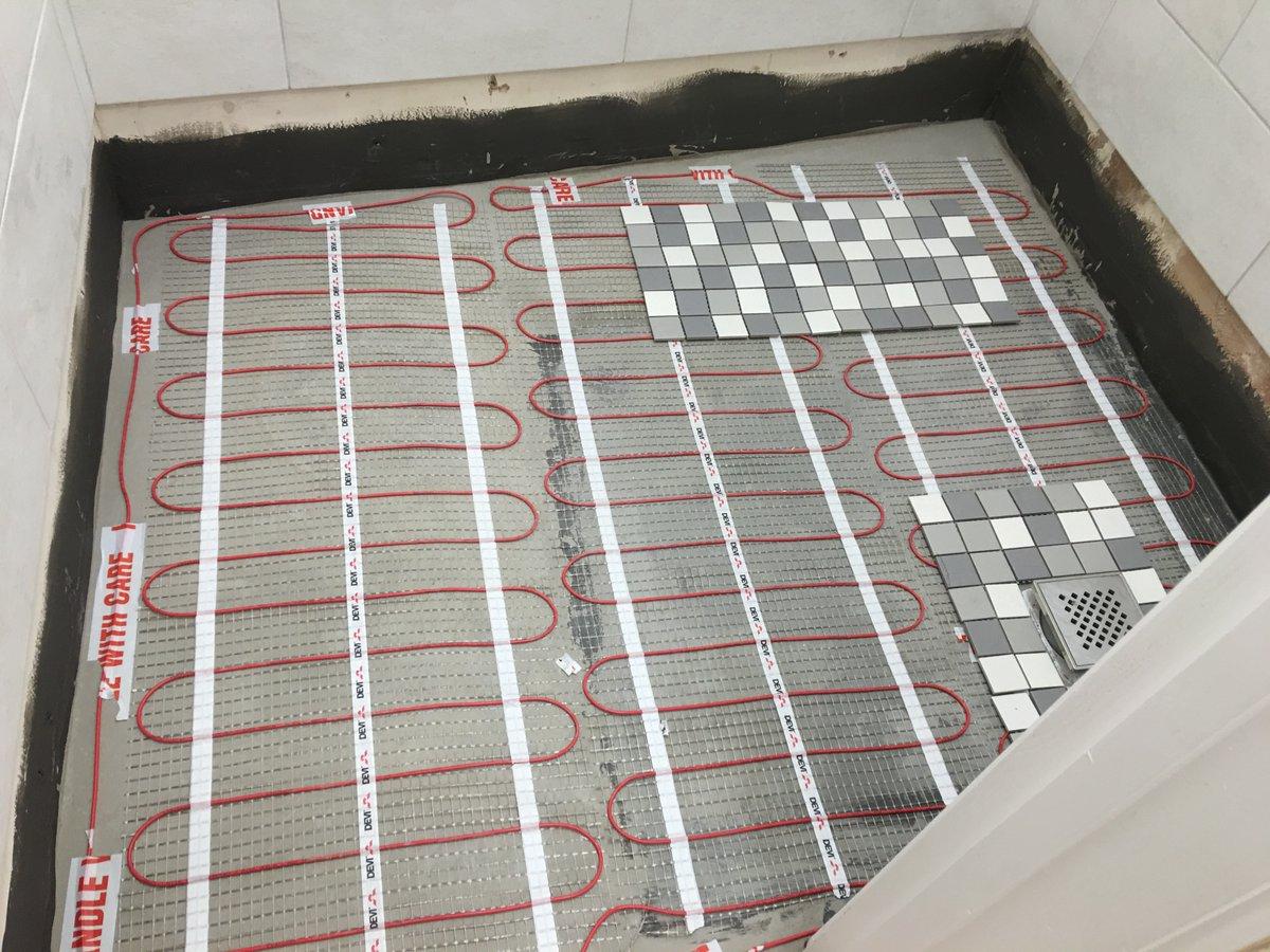Underfloor Heating in Wetroom