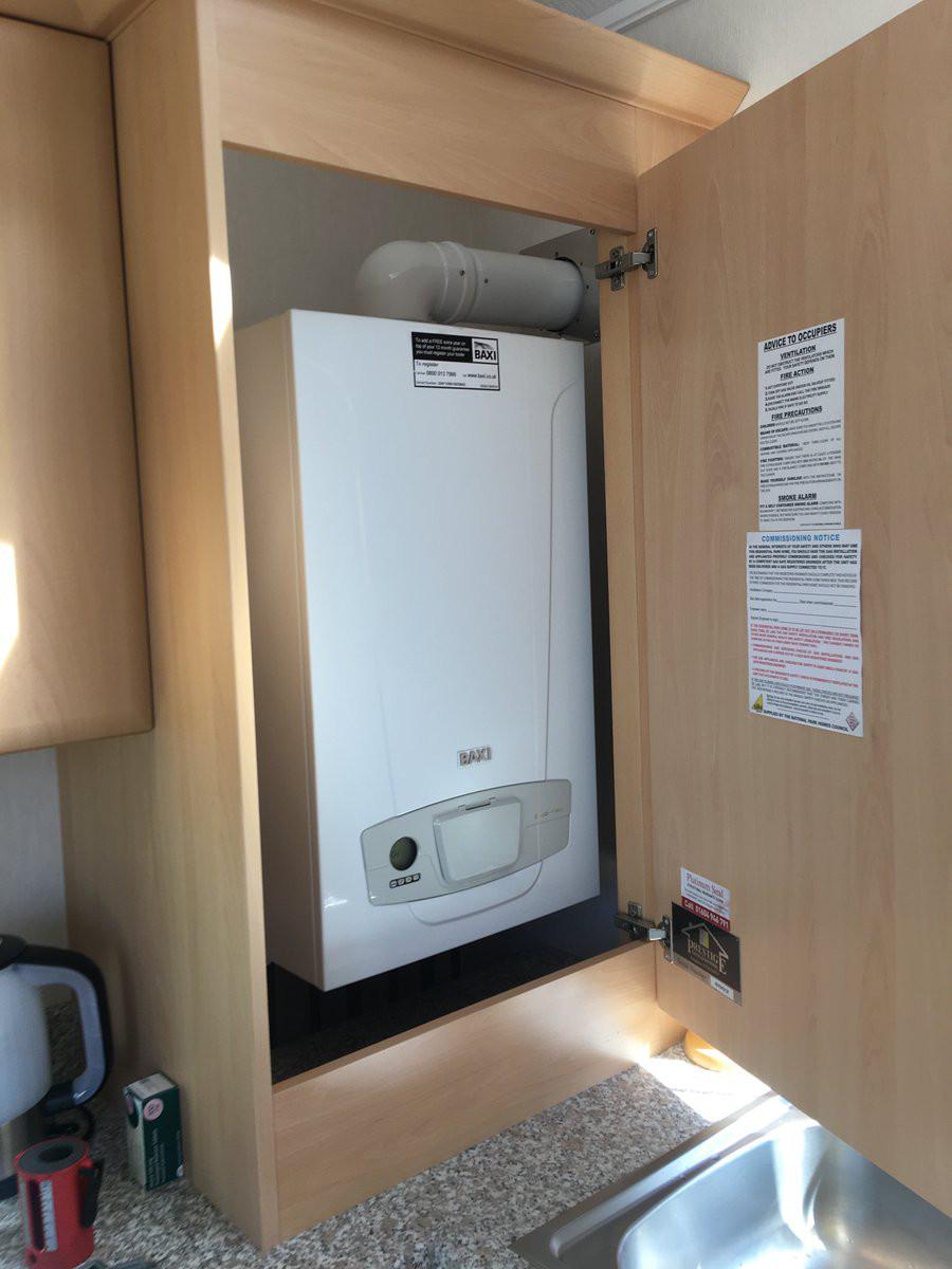 Servicing of LPG Boiler at Residential Park Home