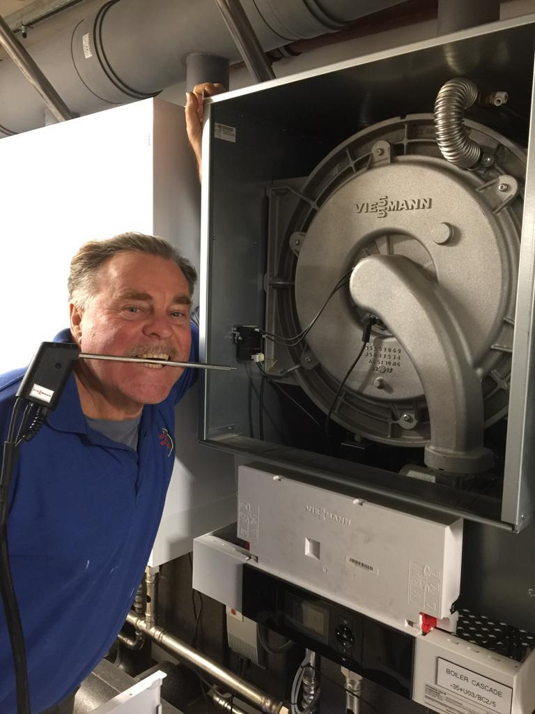Servicing a 200KW Viessmann Boiler