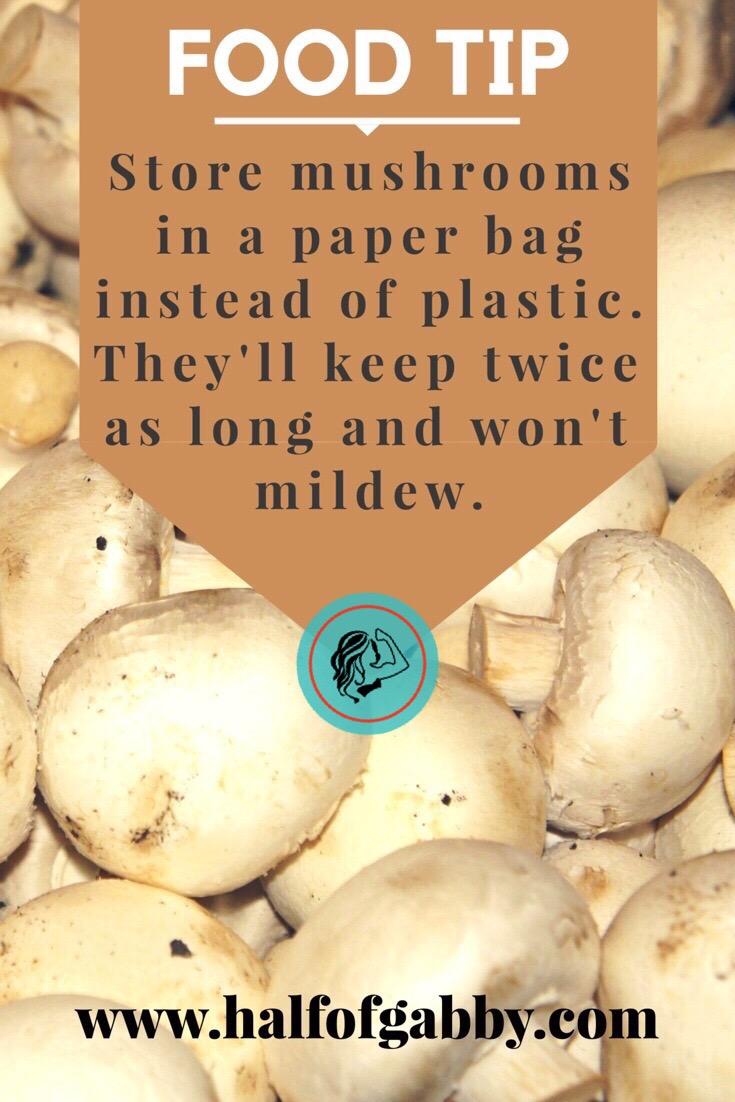 Mushroom food tip.