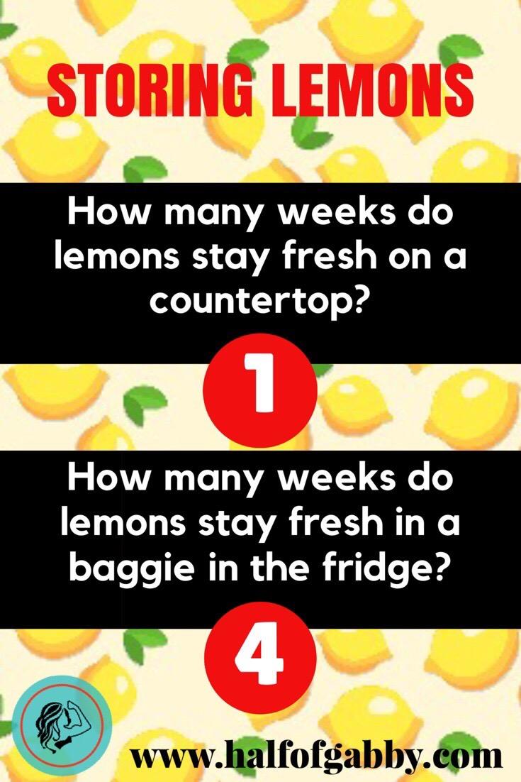 How To Keep Lemons Fresh