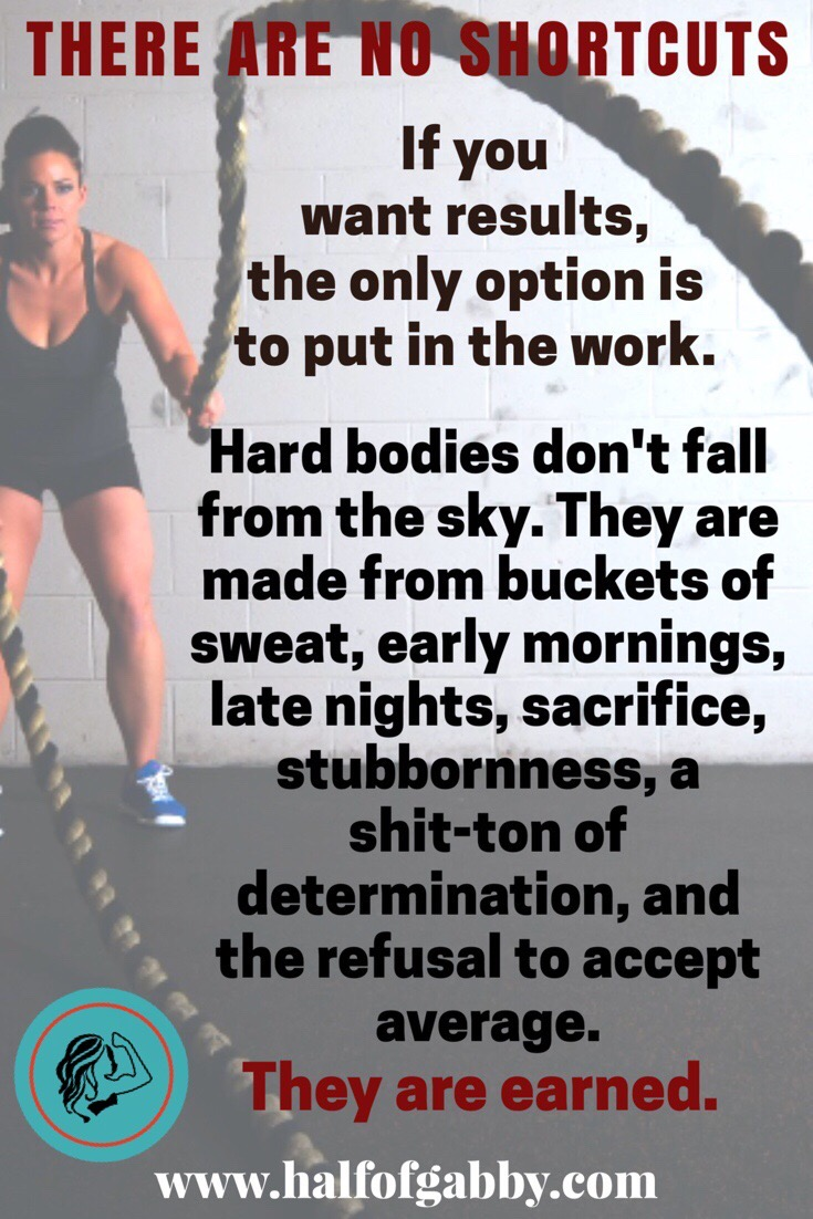 Do work, see results.