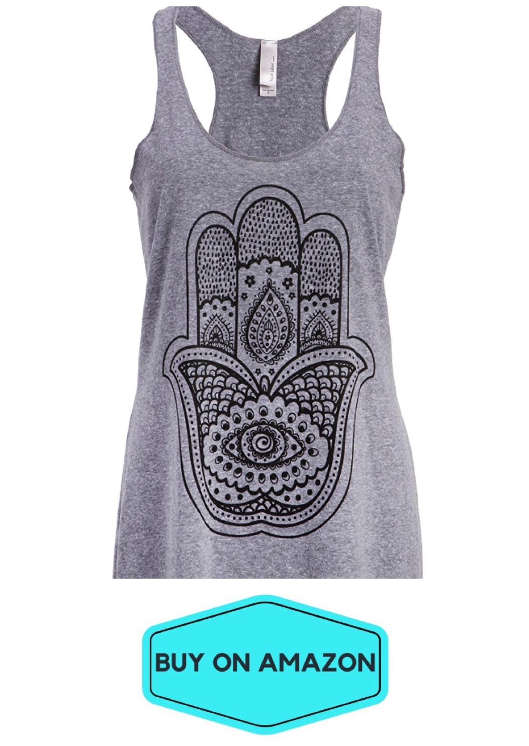 Spiritual Hamsa Hand Yoga Tank