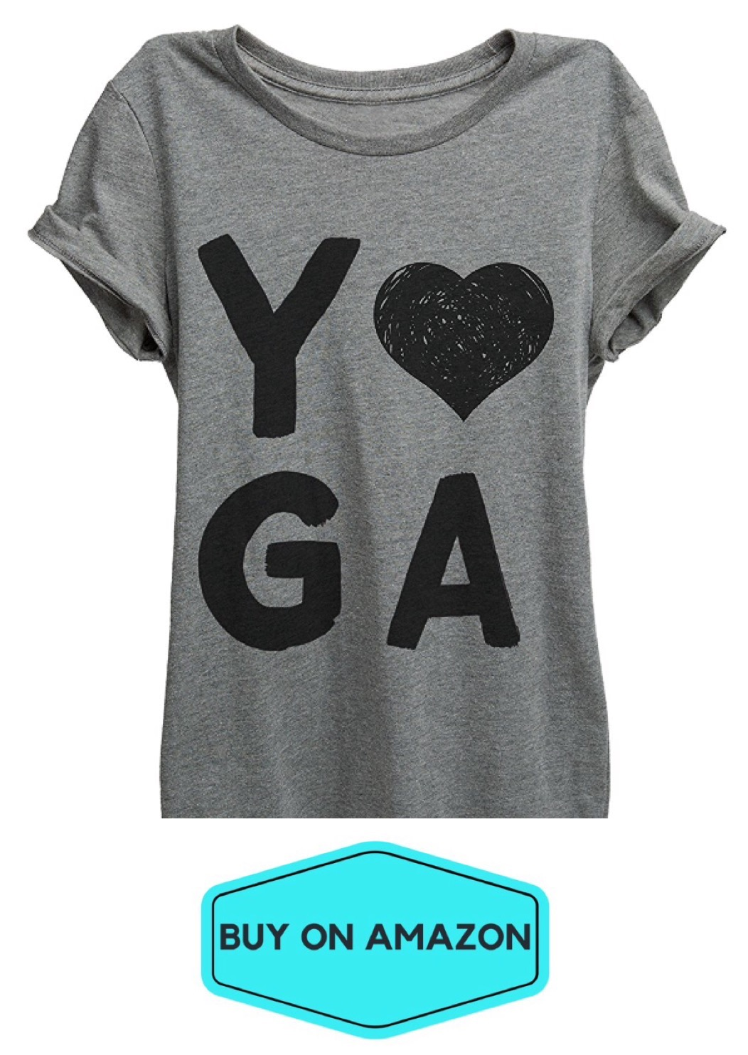 I Heart Yoga Relaxed Tee