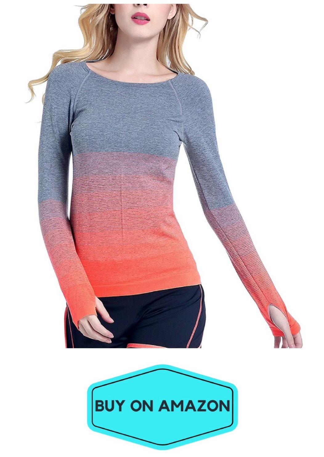 Long Sleeve Gradient Yoga Top