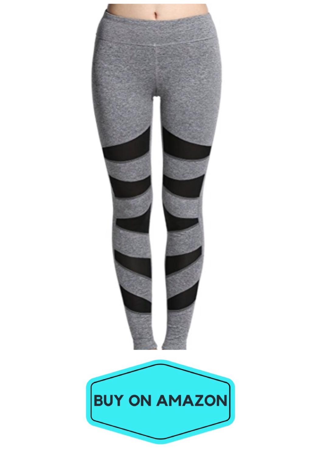 Gray/Black Mesh Leggings