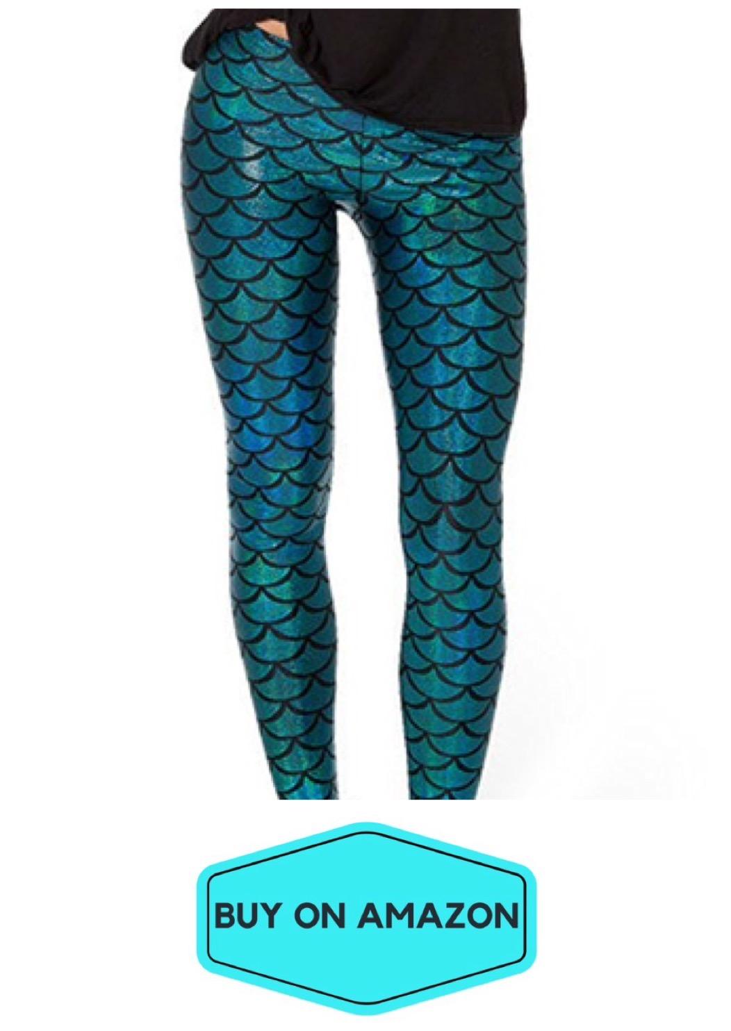 Peacock Blue Mermaid Leggings