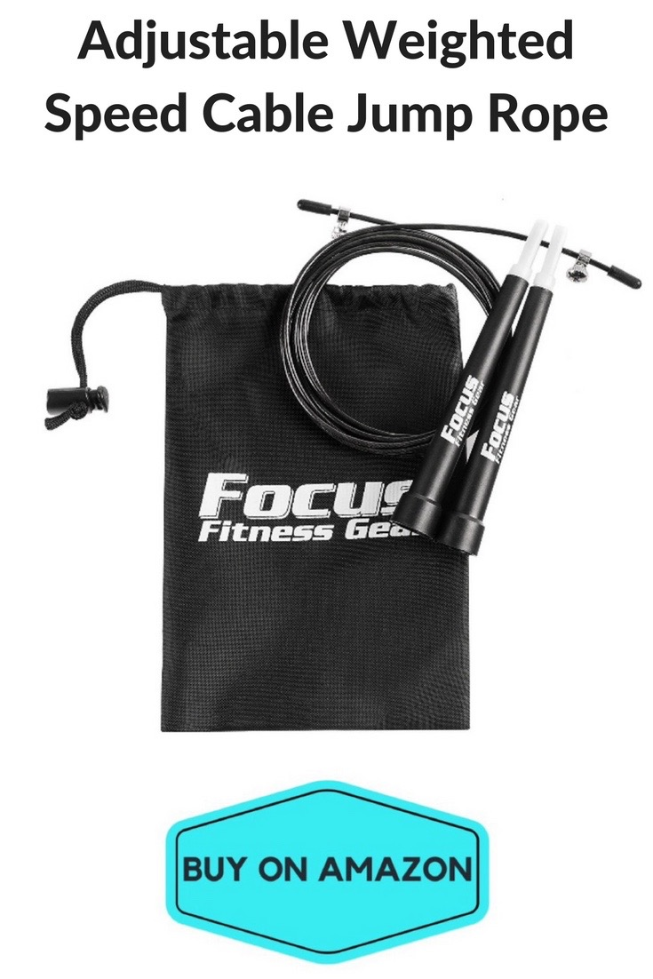 Adjustable Weighted Speed Cable Jump Rope