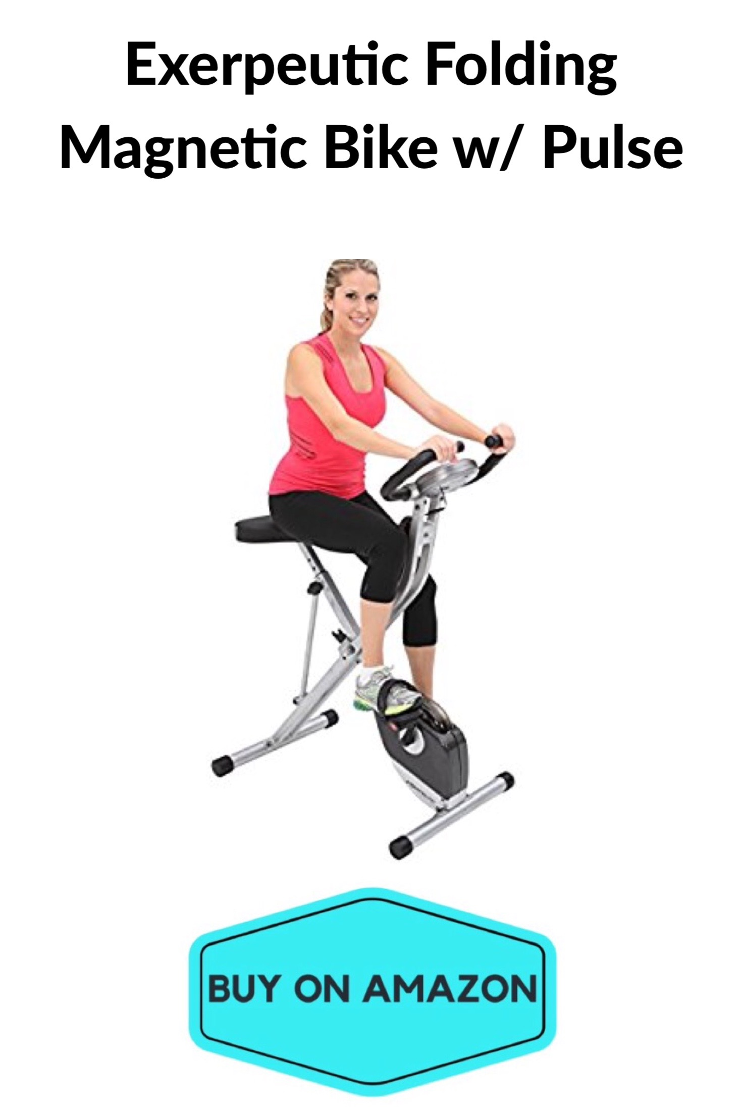Exerpeutic Folding Magnetic Bike w/ Pulse
