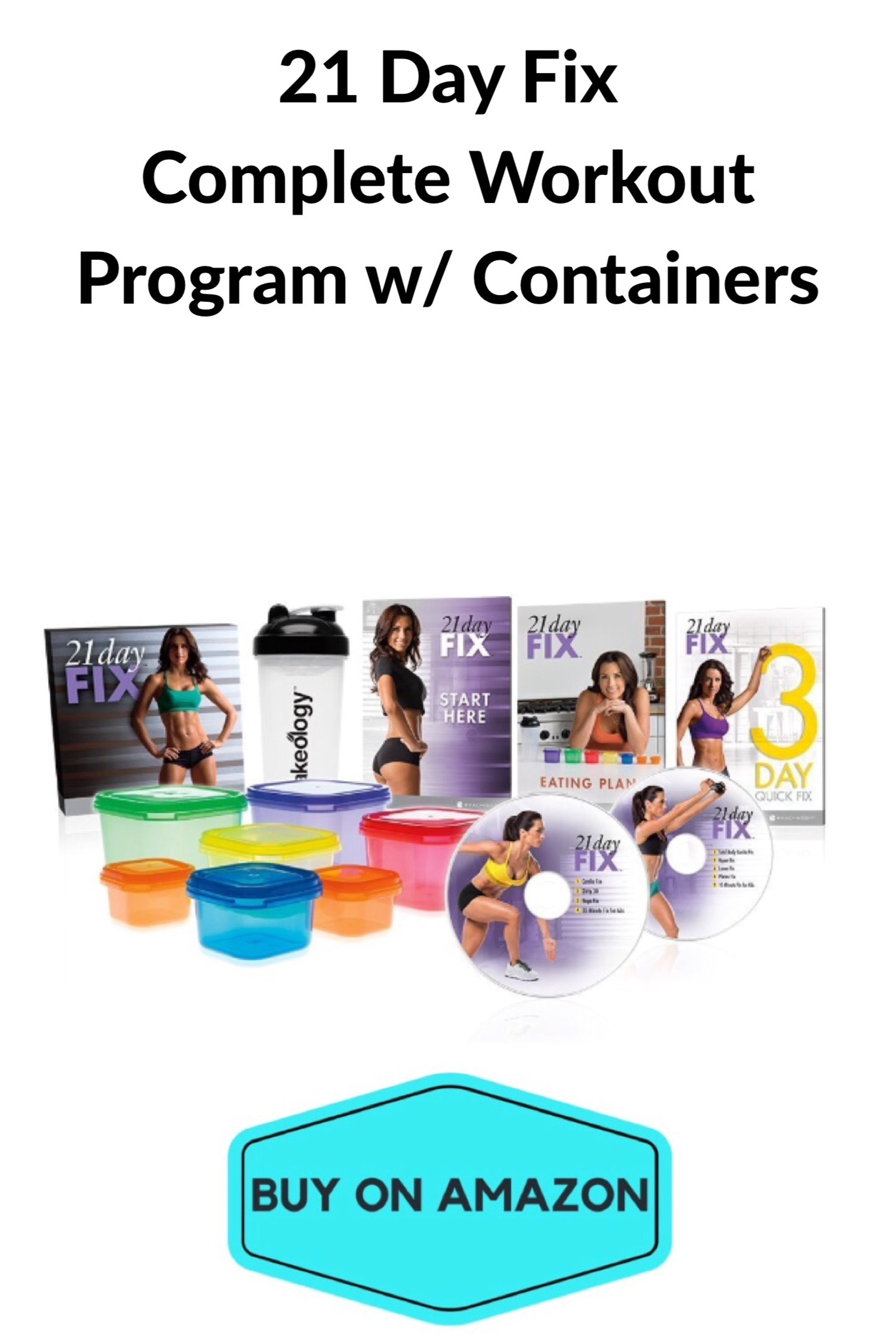 21 Day Fix Workout Program w/ 7 Piece Portion Control Containers