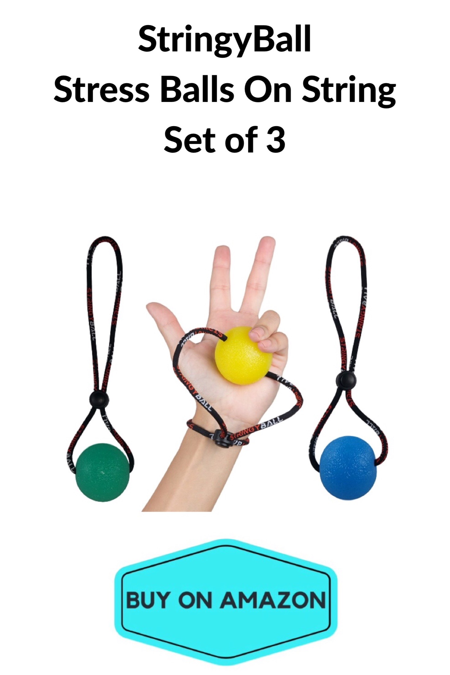 StringyBall Stress Balls on a String