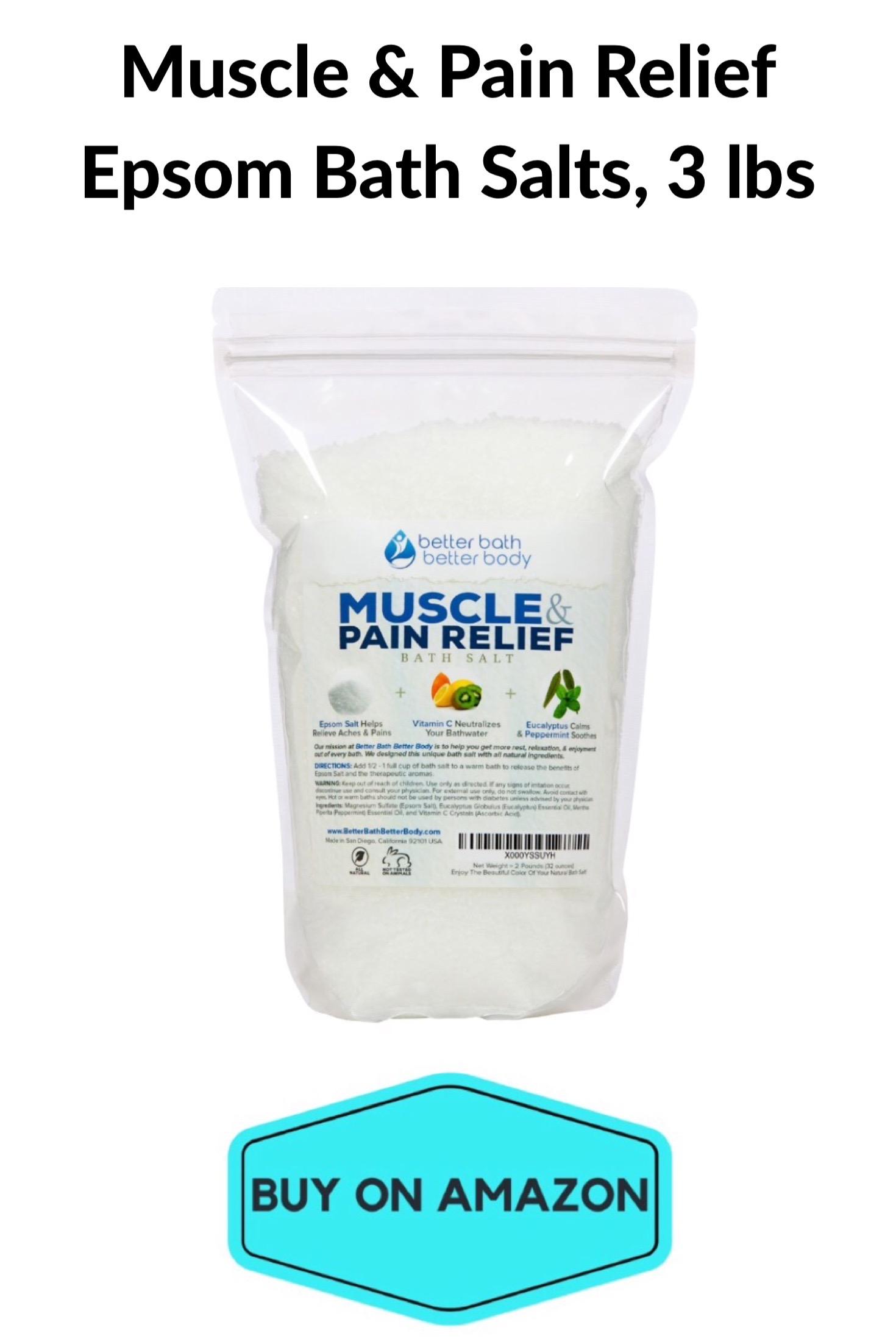 Muscle & Pain Relief Epsom Bath Salts, 3 lbs