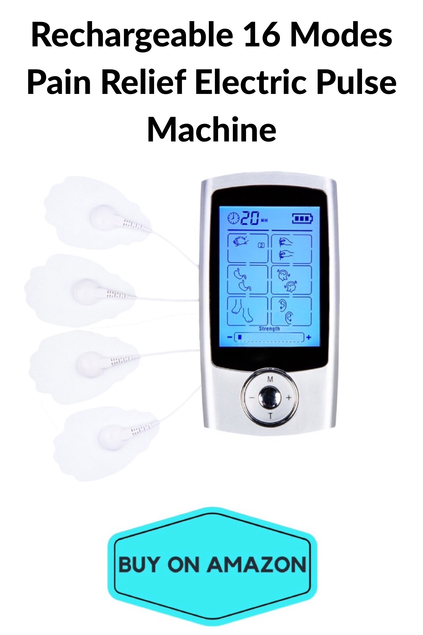 Rechargeable 16 Modes Pain Relief Electric Pulse Machine