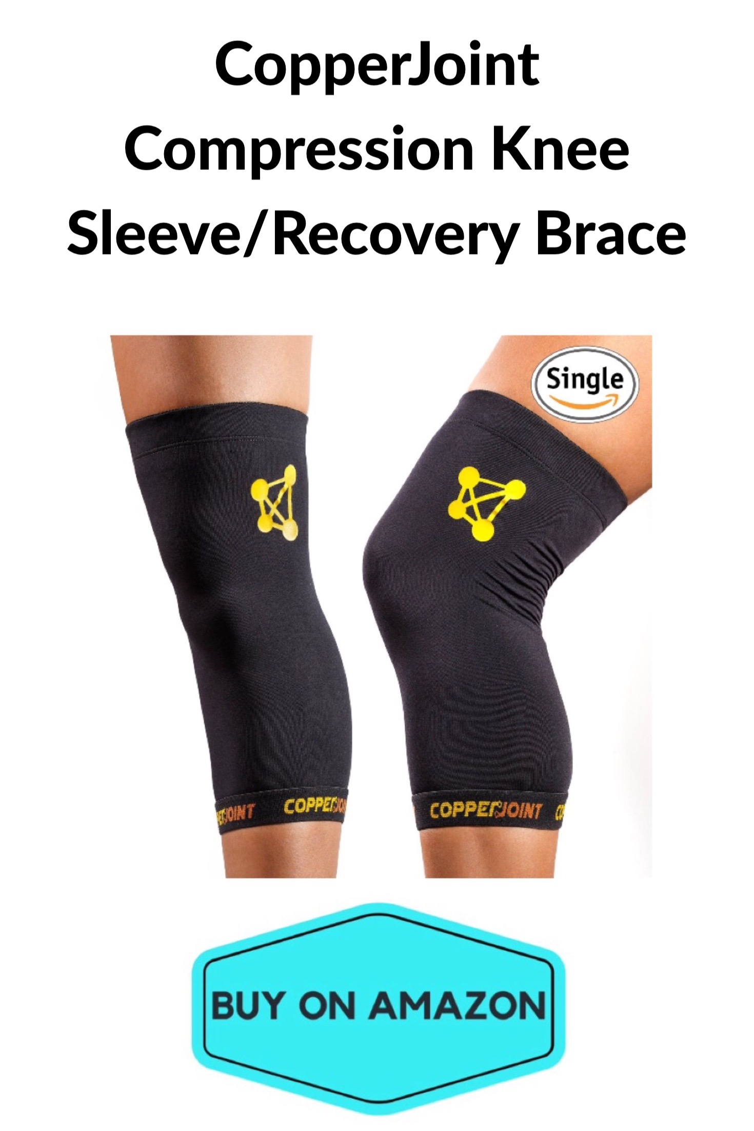 CopperJoint Compression Knee Sleeve/Recovery Brace
