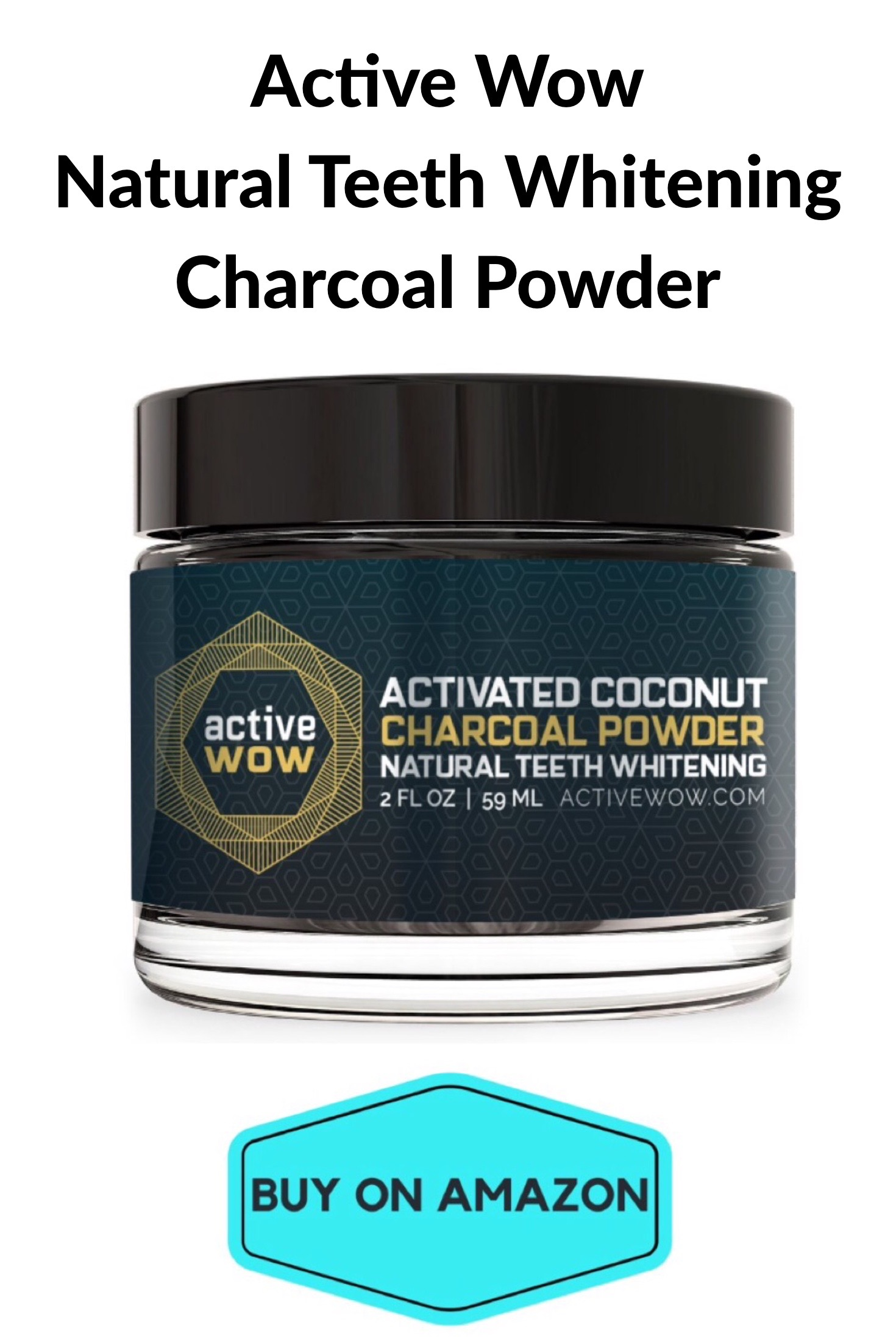 Active Wow Natural Teeth Whitening Charcoal Powder