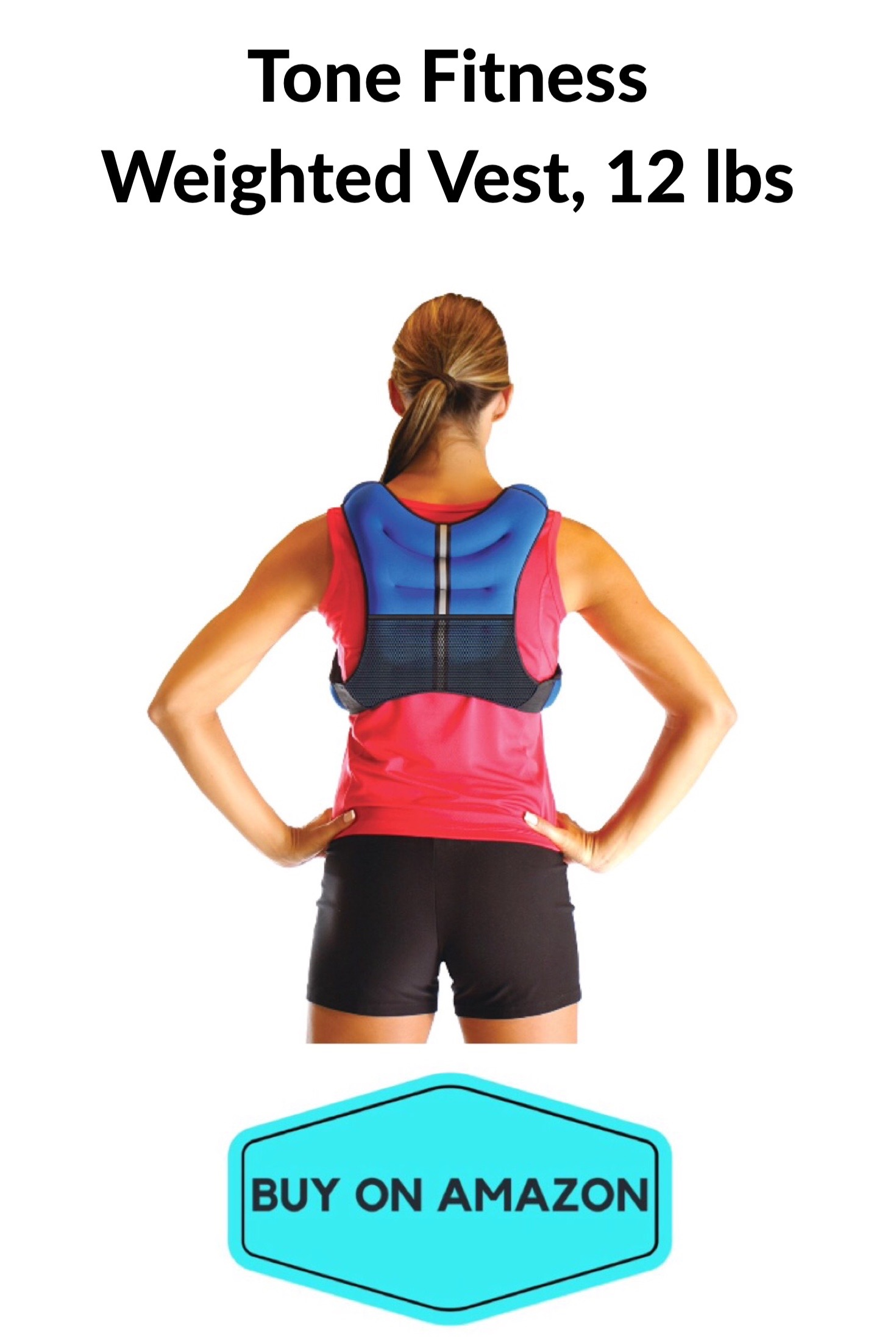Tone Fitness Weighted Vest, 12 Pounds