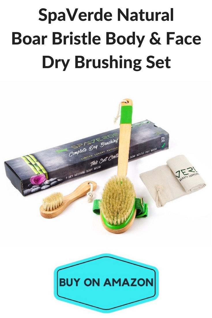 SpaVerde Natural Boar Bristle Body & Face Dry Brushing Set