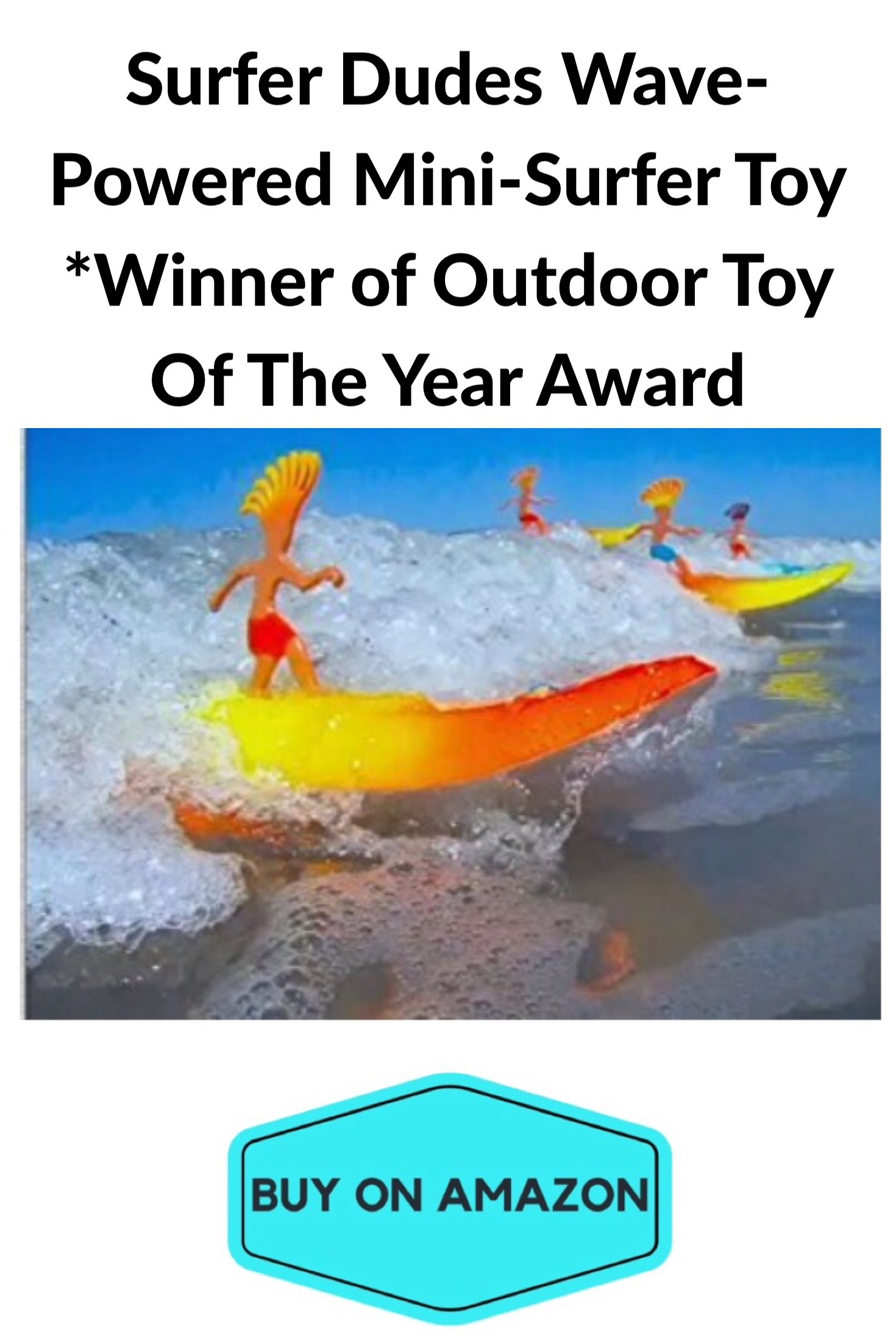 Surfer Dudes Wave-Powered Mini Surfer Toy