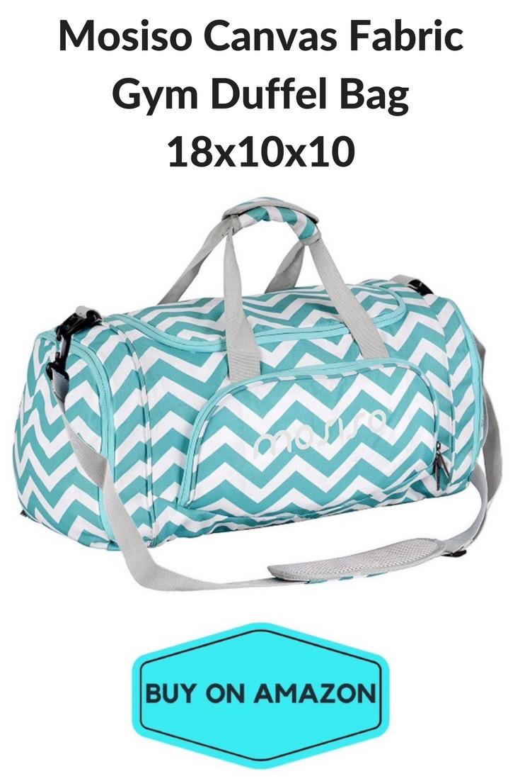 Mosiso Canvas Fabric Gym Duffel Bag
