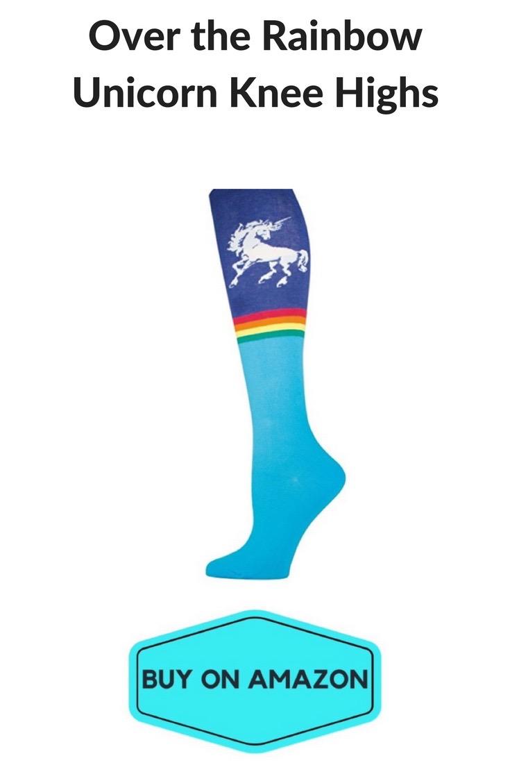 Unicorn Knee High Gym Socks