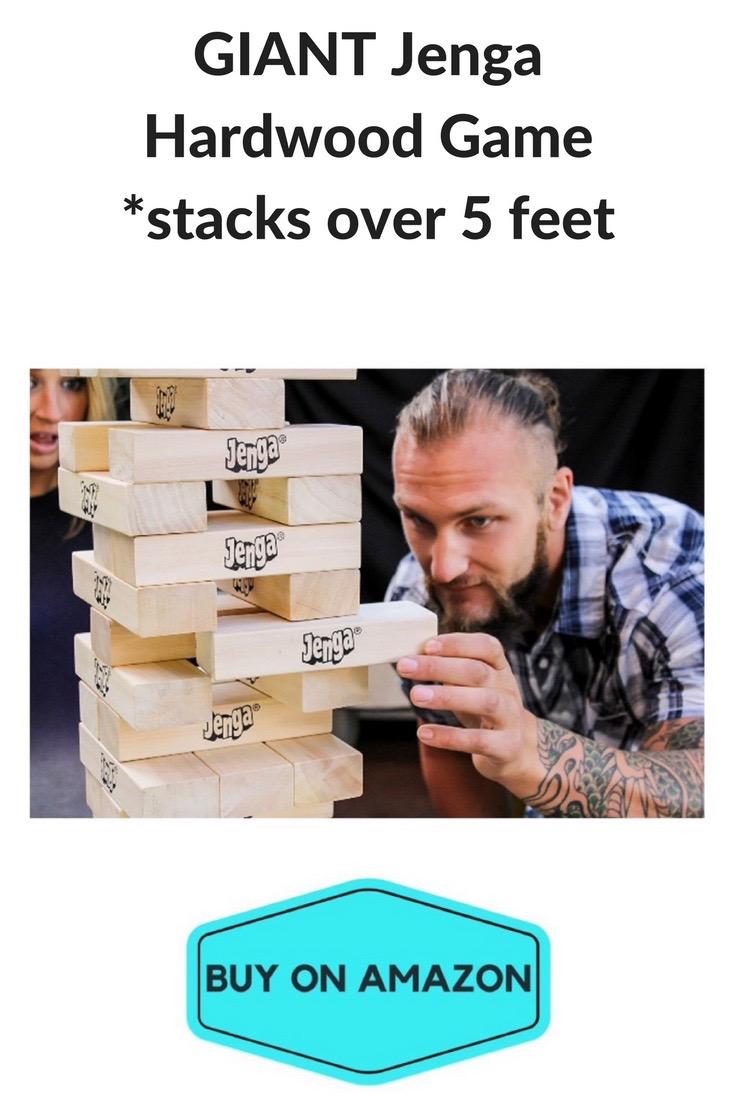 GIANT Jenga Hardwood Game, Over 5 ft