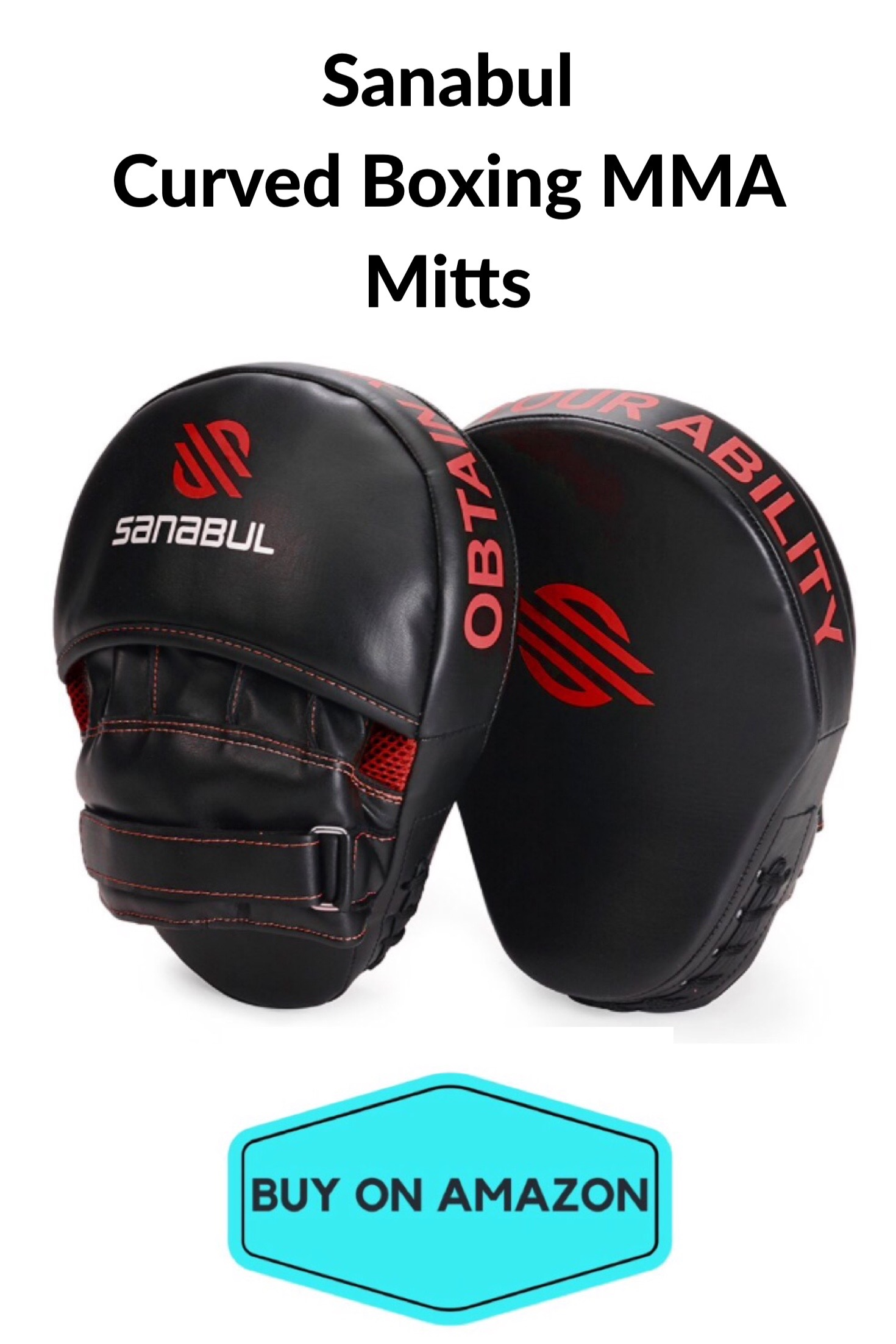 Sanabul Curved Boxing MMA Punching Mitts