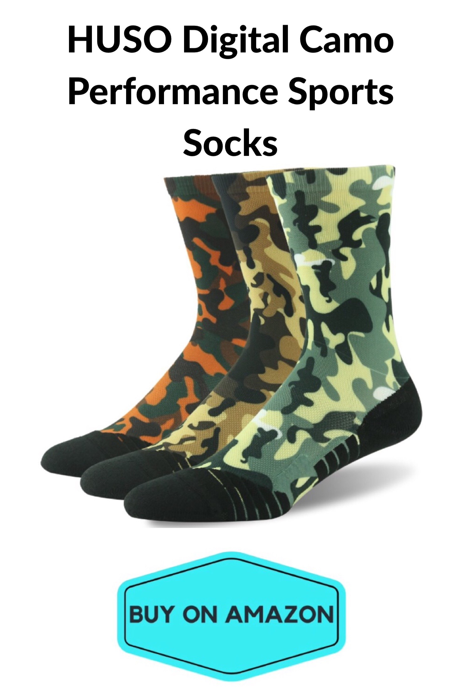 HUSO Digital Camo Sports Socks