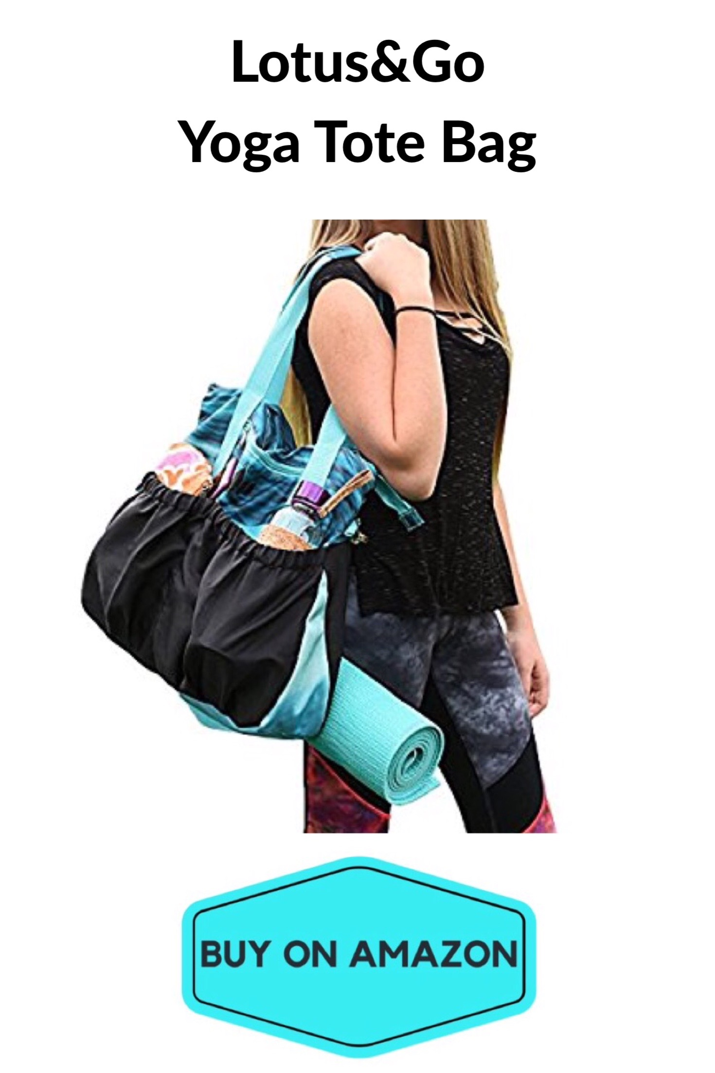 Lotus&Go Yoga Tote Bag