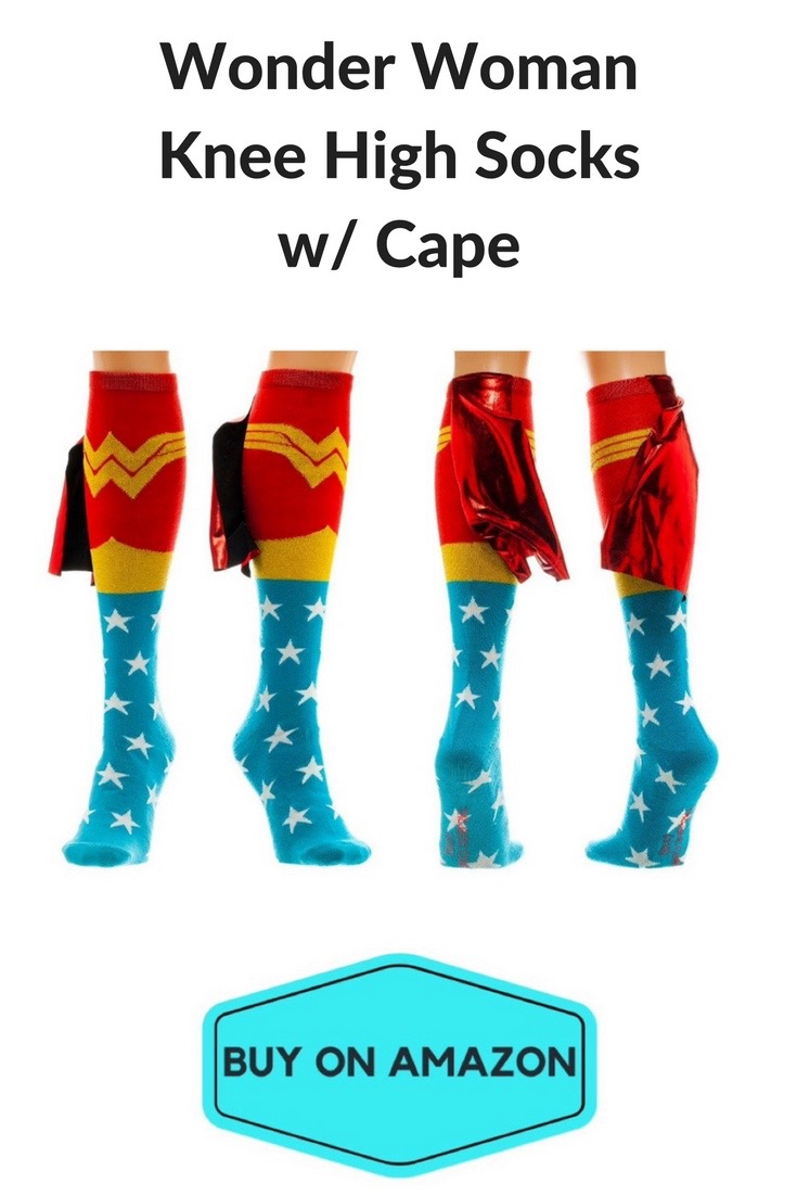 Wonder Woman Knee High Socks w/ Capes