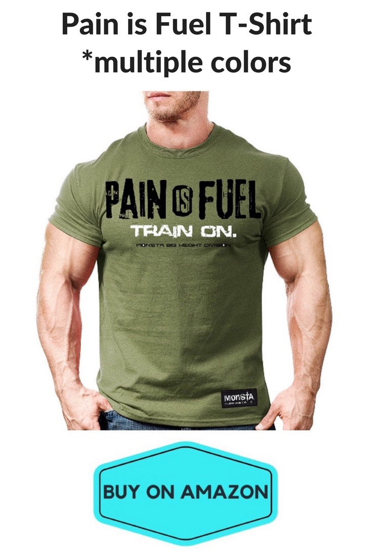 'Pain Is Fuel' Monsta Clothing Gym T-Shirt