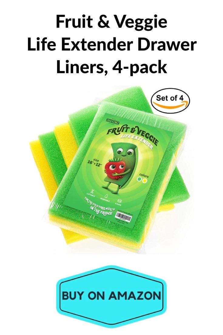 Fruit & Veggie Life Extender Drawer Liners, 4 pack