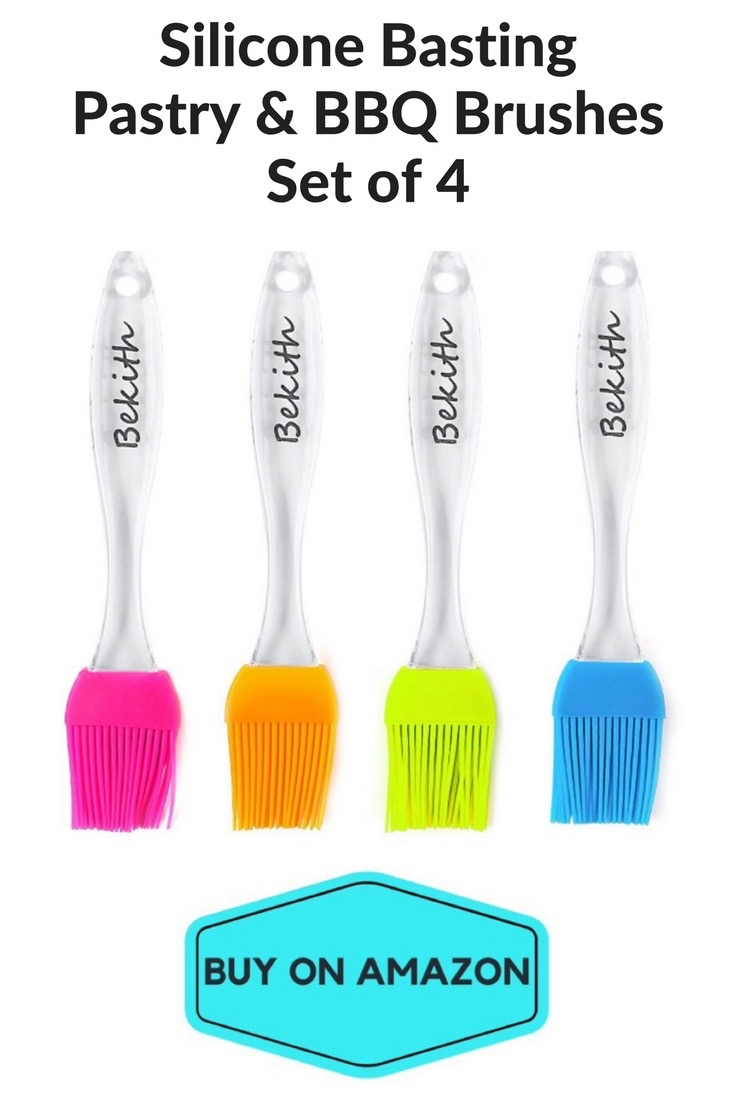 Silicone Basting, Pastry & BBQ Brushes, Set of 4