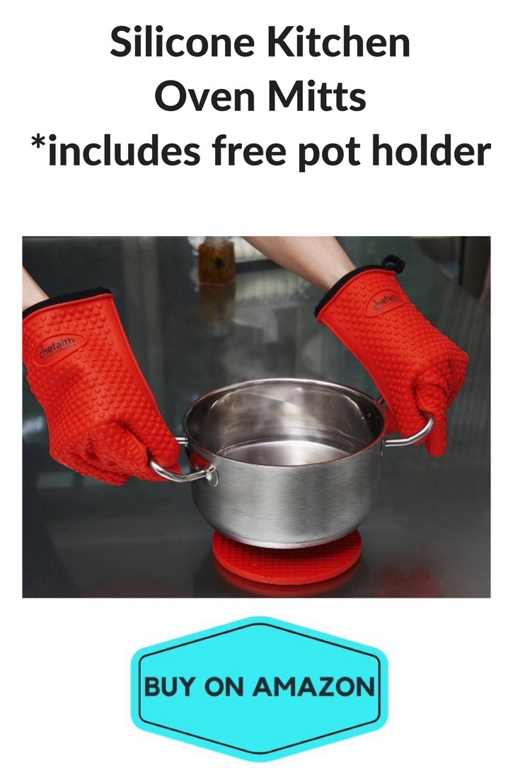 Silicone Kitchen Oven Mitts w/ Pot Holder