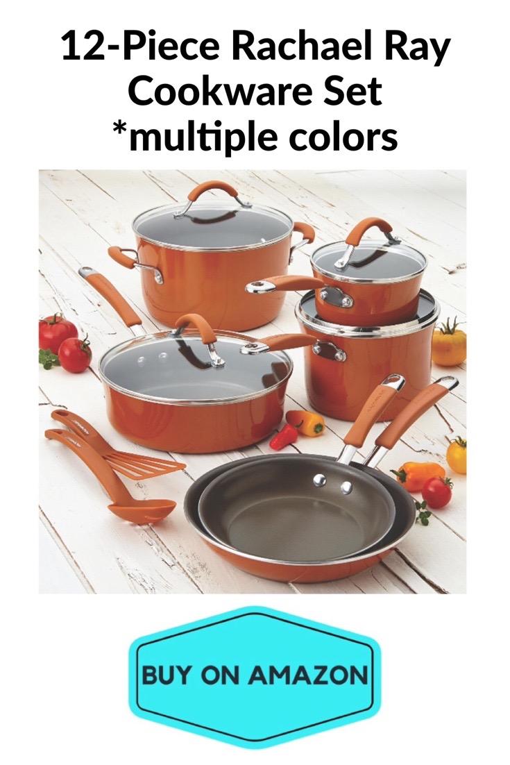 12-Piece Rachel Ray Cookware Set