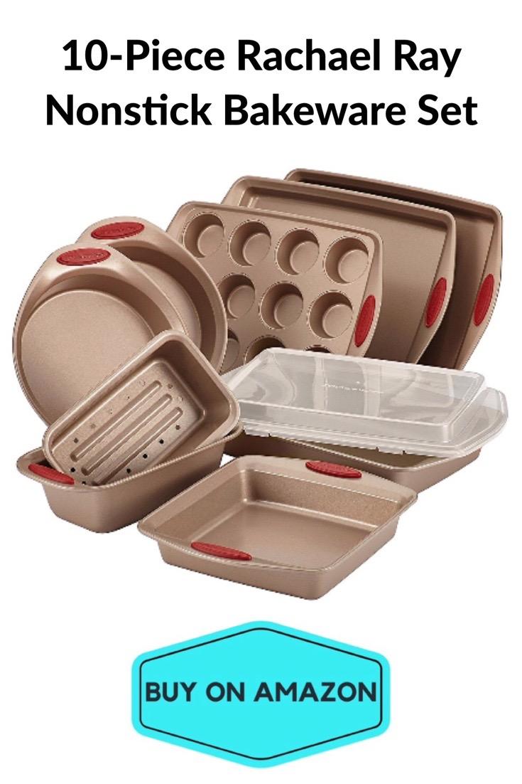 10-Piece Rachel Ray Nonstick Bakeware Set